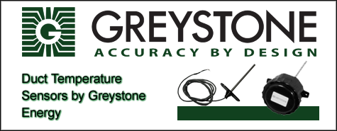Greystone Energy Duct Temperature Sensors